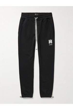 AMIRI Tapered Logo-Print Cotton-Jersey Sweatpants