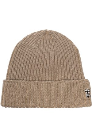 UNDERCOVER Embroidered logo ribbed beanie