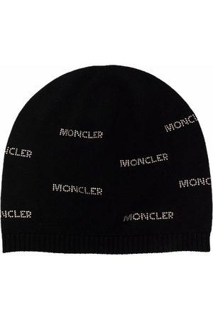 Moncler Beanie mit Monogramm-Print