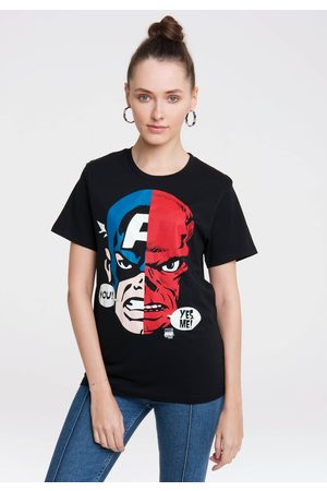 LOGOSHIRT T-Shirt »Captain America And Red Skull Faces«, mit coolem Frontprint