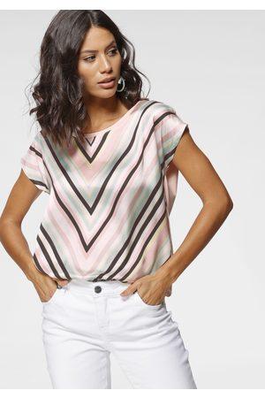 Laura Scott Damen Blusen - Shirtbluse, in modischem Materialmix - NEUE FARBEN
