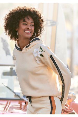 Bench Damen Sweatshirts - Kapuzensweatshirt, mit Blumenprint und Logotapes