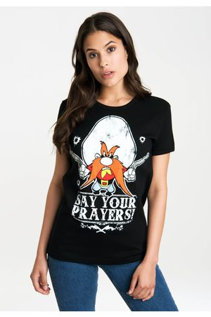 LOGOSHIRT Damen Shirts - T-Shirt »Looney Tunes – Say Your Prayers«, mit lizenzierten Originaldesign