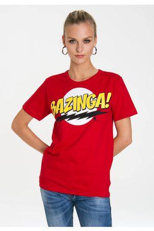 LOGOSHIRT Damen Shirts - T-Shirt »Bazinga«, mit lizenziertem Frontprint