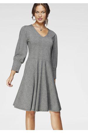 Bruno Banani Damen Kleider - A-Linien-Kleid, mit Puffärmeln