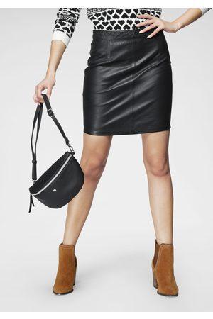 Maze Damen Lederröcke - Lederrock, Minirock aus softer Lederqualität
