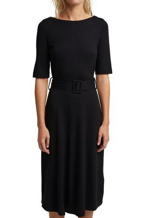 esprit collection Jerseykleid, mit elegantem Gürtel