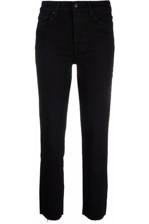 7 for all Mankind Cropped-Jeans mit offenem Saum