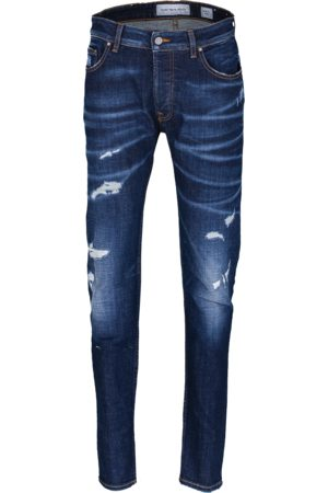 YOUNG POETS SOCIETY Herren Cropped - Jeans Morten 99214 destroyed (mid blue)