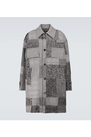 Dolce & Gabbana Patchwork-Mantel aus einem Wollgemisch