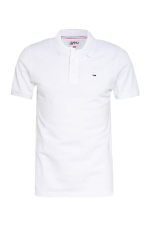 Tommy Jeans Piqué-Poloshirt Slim Fit weiss