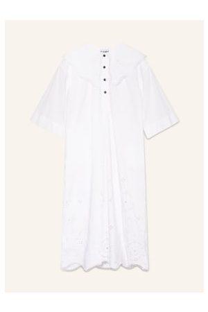 Ganni Oversized-Kleid weiss