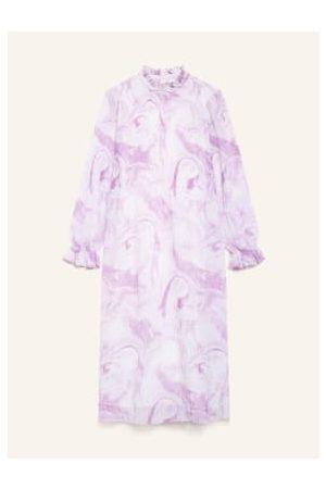 Ganni Damen Freizeitkleider - Plisseekleid violett