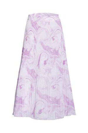 Ganni Plisseerock violett