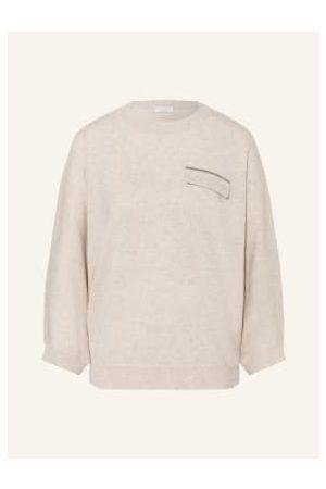 BRUNELLO CUCINELLI Cashmere-Pullover Mit 3/4-Arm beige