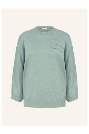BRUNELLO CUCINELLI Cashmere-Pullover Mit 3/4-Arm gruen