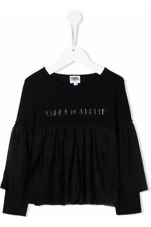 Karl Lagerfeld Kids Ruffle-detail long-sleeve T-shirt