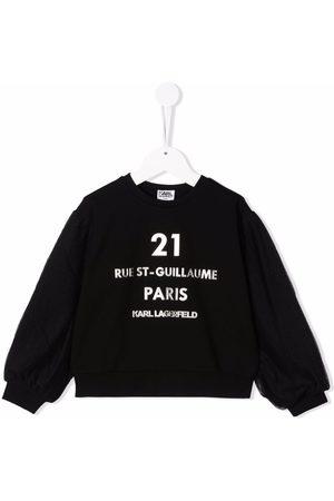 Karl Lagerfeld Kids Rue St-Guillaume logo sweatshirt