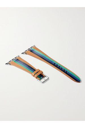 laCalifornienne Herren Uhren - Aquatica Striped Leather Watch Strap