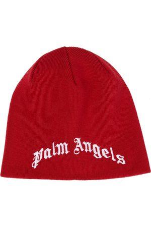 Palm Angels Kids Bestickte Beanie aus Wolle