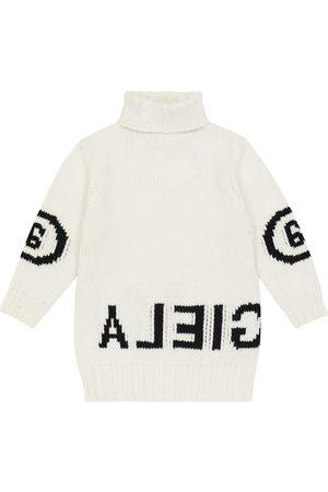 MM6 Maison Margiela Kids Pulloverkleid aus einem Wollgemisch