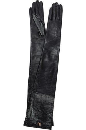 Dolce & Gabbana Damen Handschuhe - Handschuhe aus Lederimitat