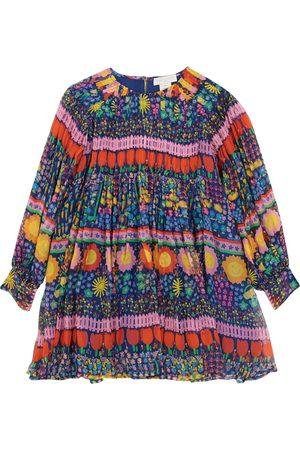 Stella McCartney Bedrucktes Kleid aus Seiden-Georgette