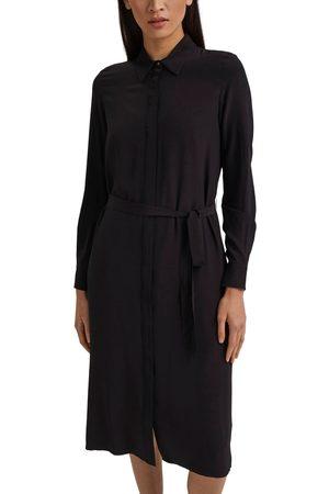 Esprit Hemdblusenkleid, (Set, 2 tlg., mit abnehmbarem Gürtel), mit Blusenkragen