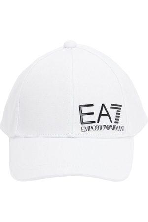 EA7 EMPORIO ARMANI Baseballkappe Aus Baumwollcanvas Mit Logopatch