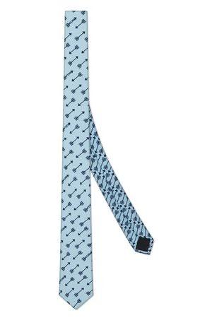 Fendi Herren Krawatten - Krawatte aus Seide in Blau