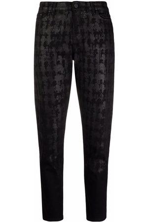 Karl Lagerfeld Tapered-Jeans mit abstraktem Print