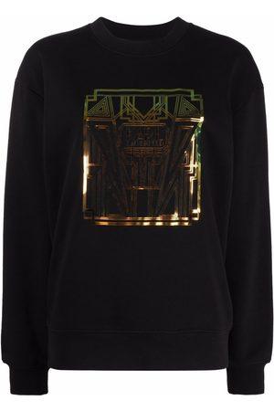 Karl Lagerfeld Damen Sweatshirts - Sweatshirt mit Art-déco-Print
