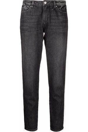 Karl Lagerfeld Damen Straight - Gerade Jeans mit Streifen