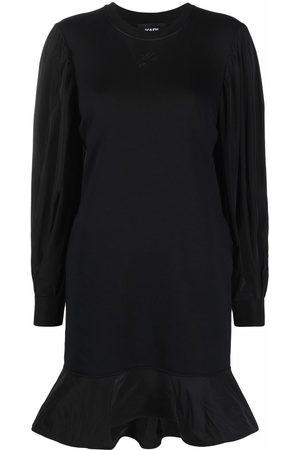 Karl Lagerfeld Damen Freizeitkleider - Sweatshirtkleid mit Puffärmeln
