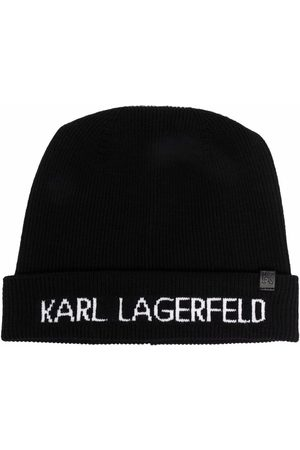 Karl Lagerfeld Damen Hüte - Strickmütze mit Logo-Print