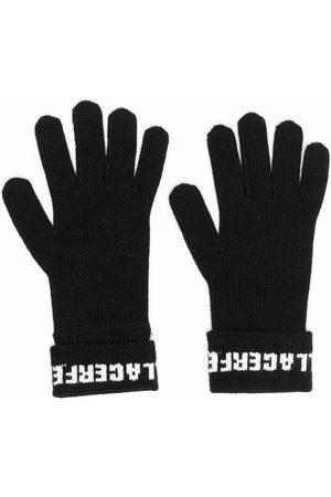 Karl Lagerfeld Damen Handschuhe - Gestrickte Handschuhe mit Logo