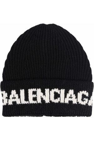 Balenciaga Mütze mit Intarsien-Logo