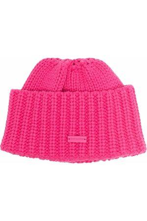 Saint Laurent Damen Hüte - Gerippte Kaschmirmütze