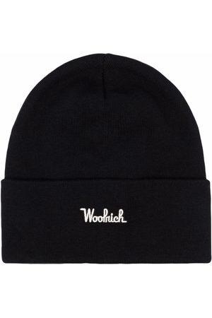 Woolrich Gerippte Strickmütze mit Logo