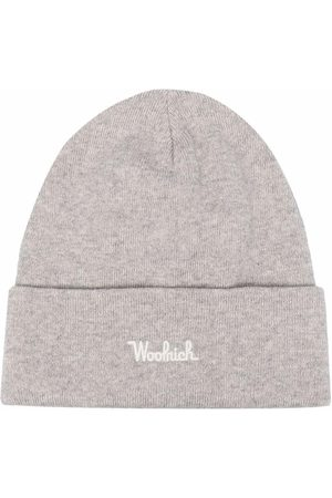 Woolrich Herren Hüte - Gerippte Strickmütze mit Logo