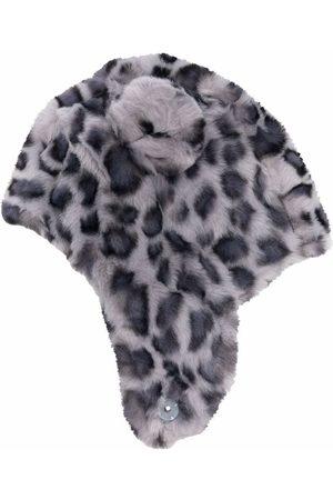 Molo Faux-Fur-Mütze mit Leoparden-Print