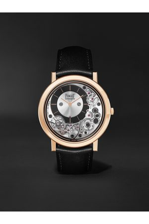 Piaget Altiplano Ultimate Automatic 41mm 18-Karat Rose Gold and Leather Watch, Ref. No. G0B43120
