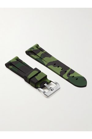 HORUS WATCH STRAPS Herren Uhren - 24mm Camouflage-Print Rubber Watch Strap