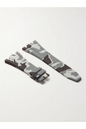 Horus Watch Straps Herren Uhren - Deployment 42mm Camouflage-Print Rubber Watch Strap