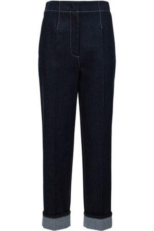 Armani Damen Straight - Plain Denim Regular Fit Jeans