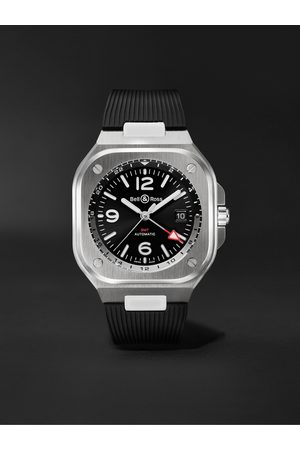 Bell & Ross GMT Automatic 41mm Stainless Steel and Rubber Watch, Ref. No. BR05G-BL-ST/SRB