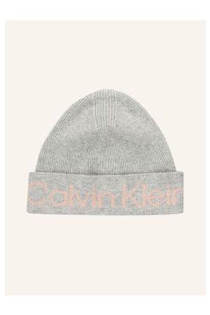 Calvin Klein Damen Mützen - Mütze grau