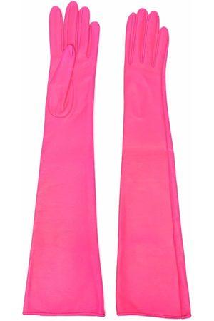 Manokhi Damen Handschuhe - Lange Handschuhe aus Leder