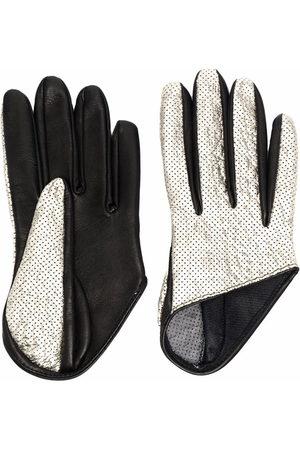 Manokhi Handschuhe im Metallic-Look