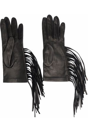 Manokhi Handschuhe mit Fransen